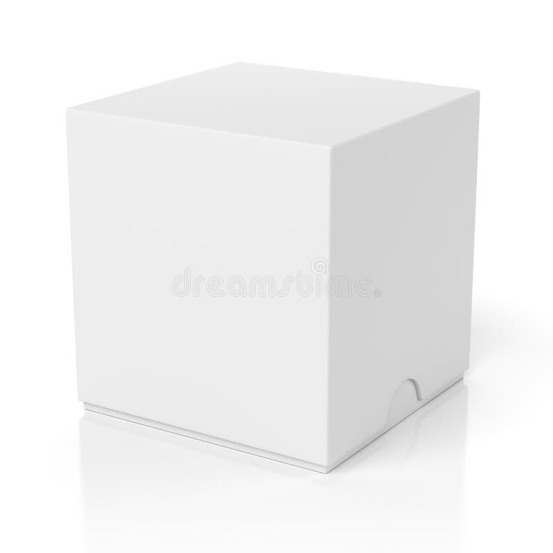 有在白色隔绝的幻灯片盖子的关闭框 库存例证