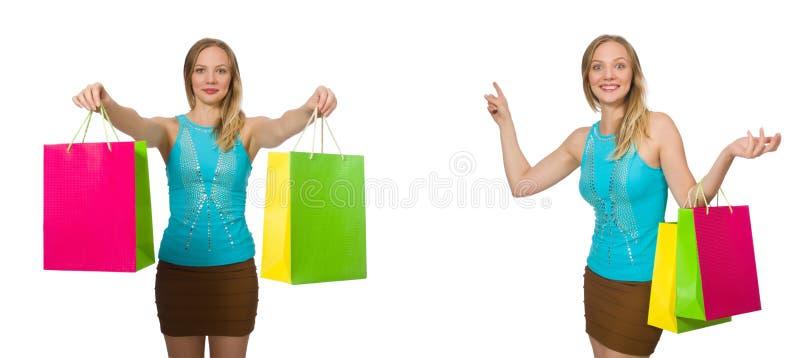 Download 有在白色隔绝的购物袋的妇女 库存照片. 图片 包括有 有吸引力的, 购买, 圣诞节, 购物中心, 藏品, 喜悦 - 72362834
