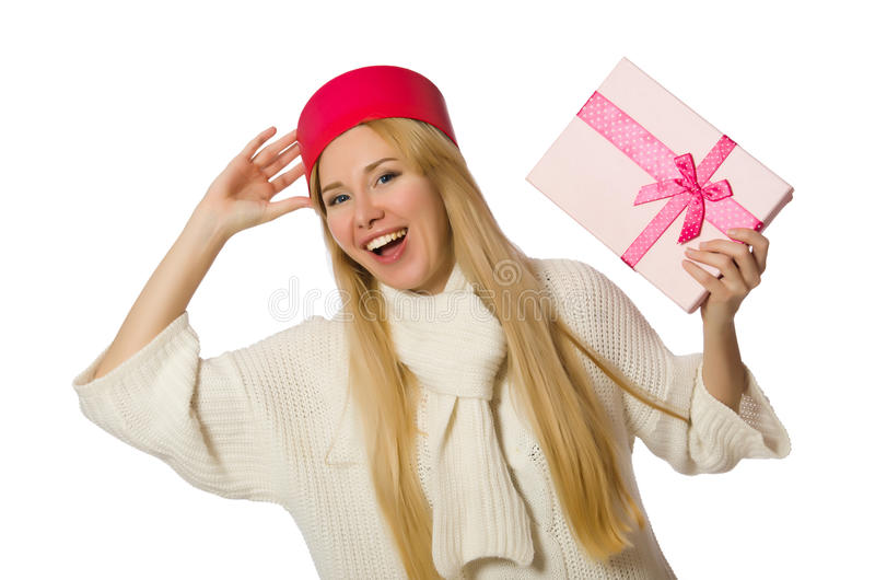 Download 有在白色隔绝的giftboxes的妇女 库存图片. 图片 包括有 查出, 小箱, 现有量, 棚车, 有吸引力的 - 72359887