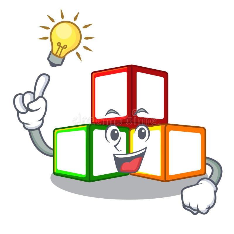 有在立方体箱子吉祥人的想法玩具块 皇族释放例证
