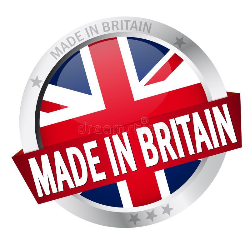 有在英国制造的横幅的按钮 库存例证