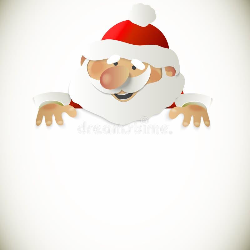 有地方的圣诞老人您的文本的 库存例证