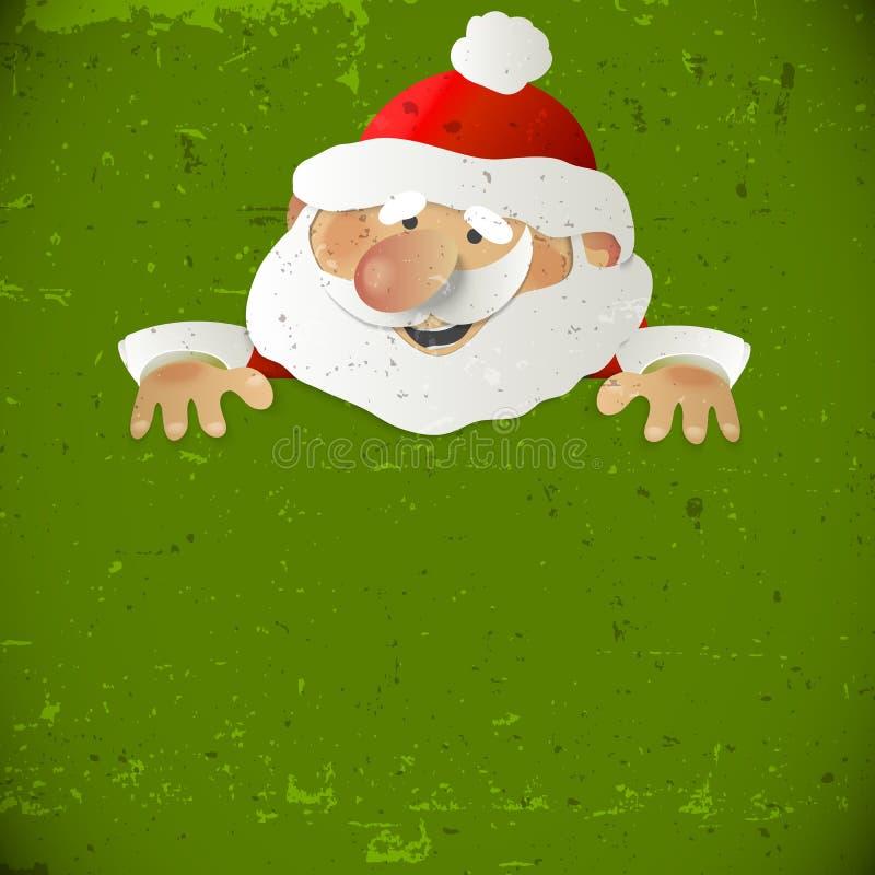 有地方的圣诞老人您的文本的 皇族释放例证