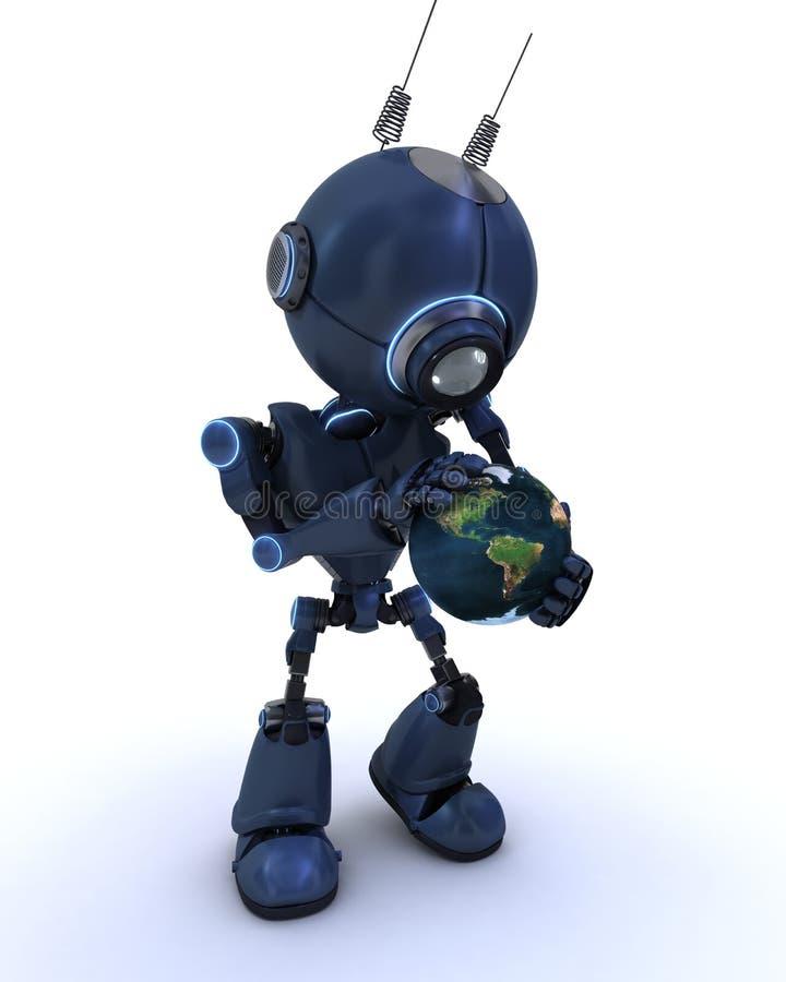 有地球的机器人 皇族释放例证