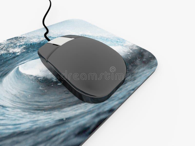 有垫的老鼠个人计算机 向量例证