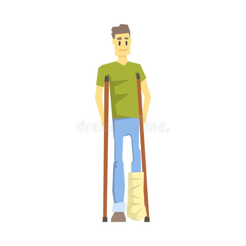 有塑象的人在腿与蹲下,有克服伤害的伤残的充分居住年轻的人活传染媒介 皇族释放例证