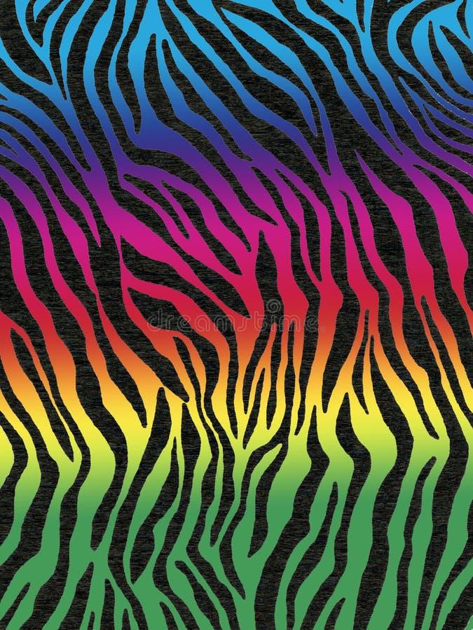 有墙纸或背景的一个斑马样式的皱纹纸 皇族释放例证