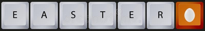 有复活节按钮的传染媒介键盘。Eps10 向量例证