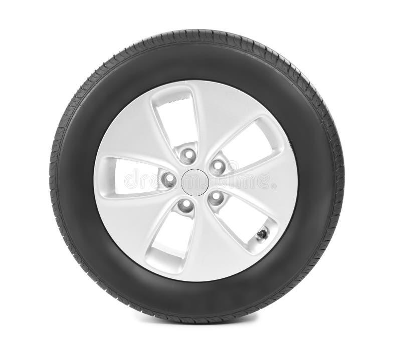 有外缘的车胎在背景 免版税库存图片