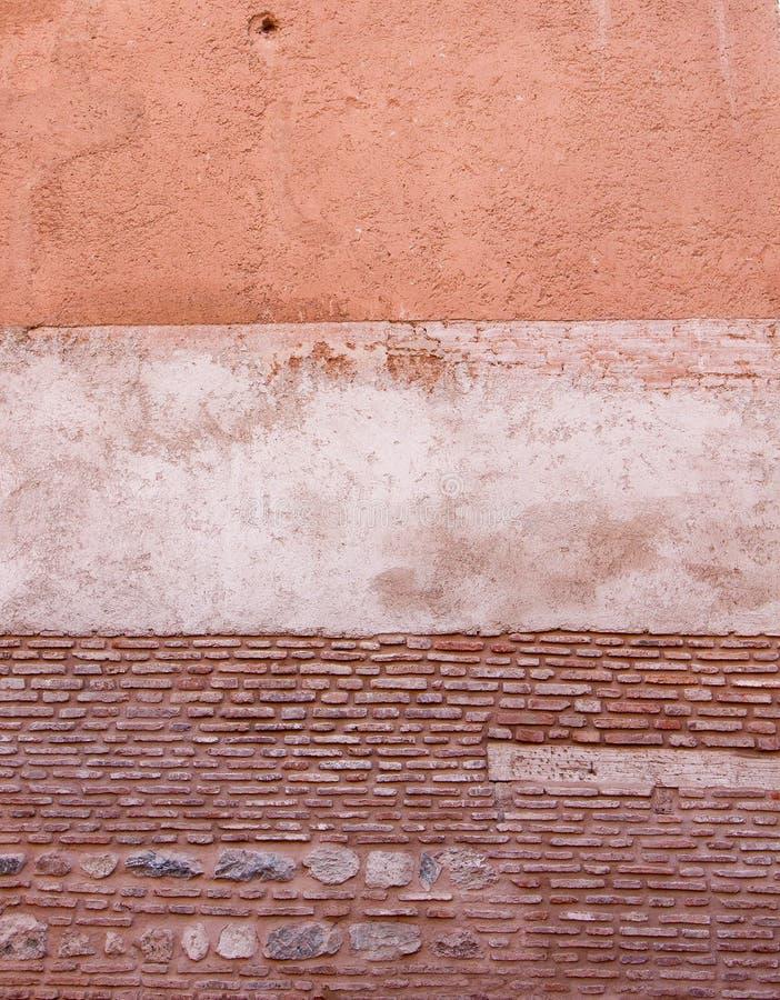 有多纹理的土气墙壁 免版税库存图片
