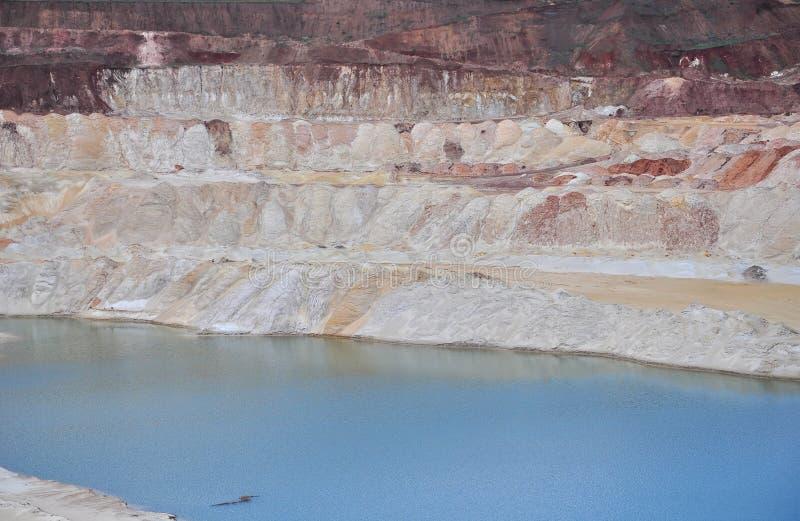 有大海的白垩纪湖 库存图片