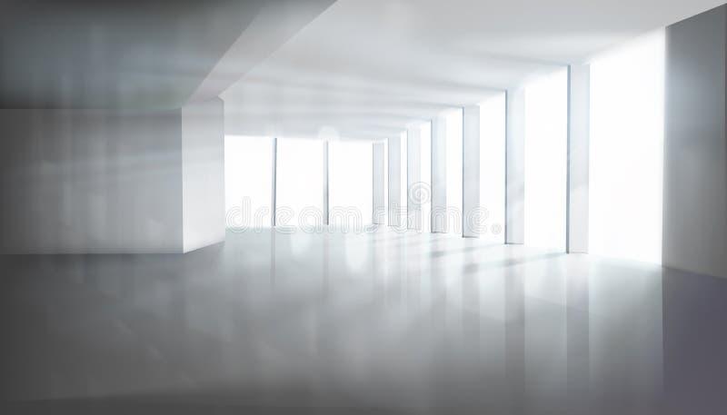 有大窗口的空的室 也corel凹道例证向量 库存例证