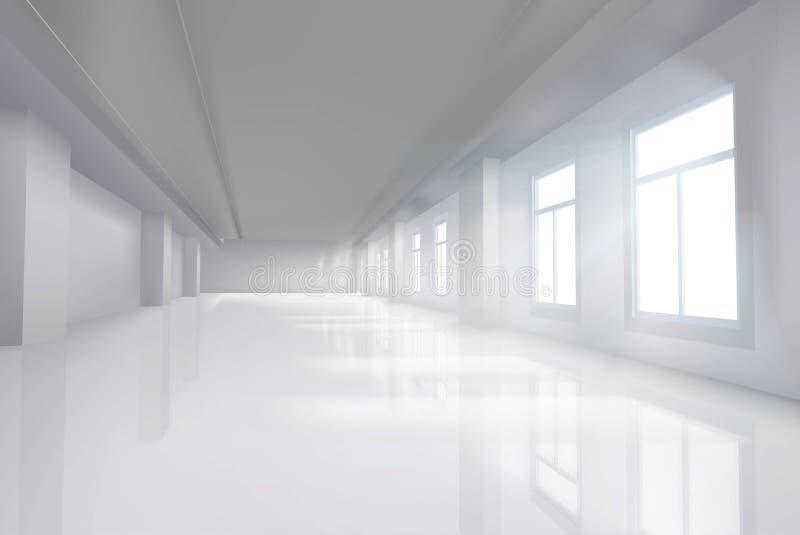 有大窗口的空的室 也corel凹道例证向量 皇族释放例证
