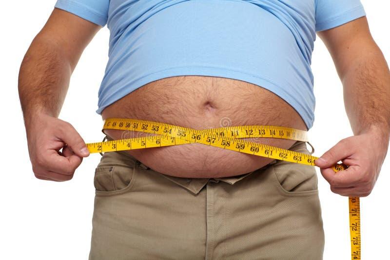 有大腹部的肥胖人。 图库摄影