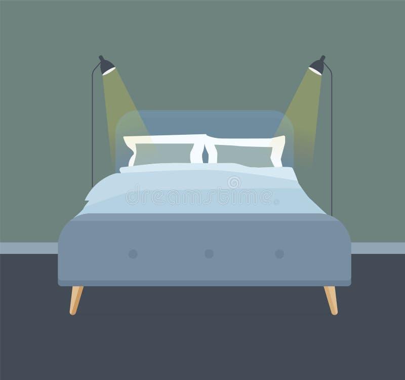 卧室室内设计例证 向量例证