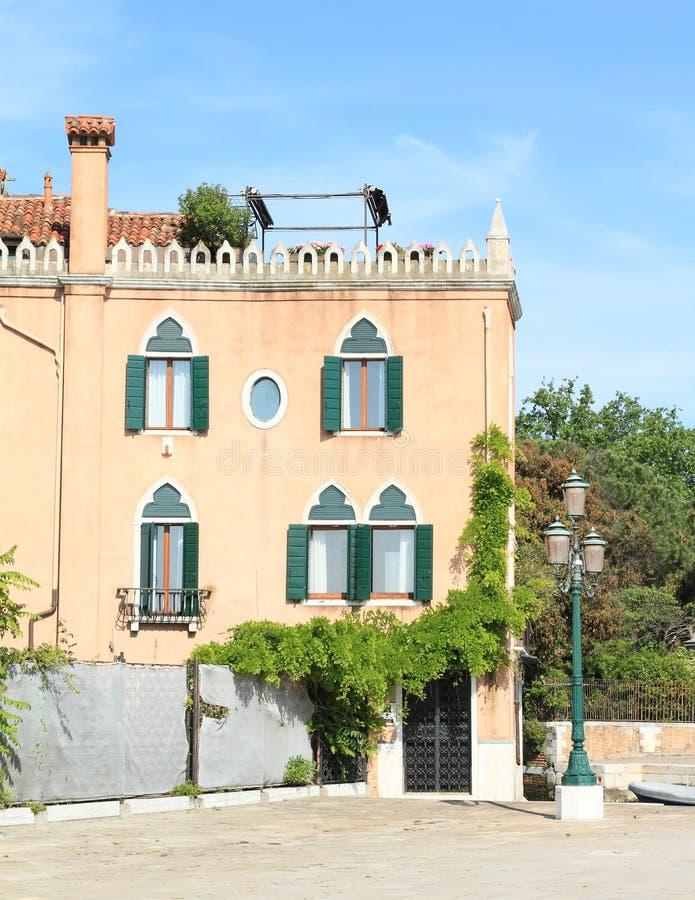有大阳台的议院在威尼斯 图库摄影