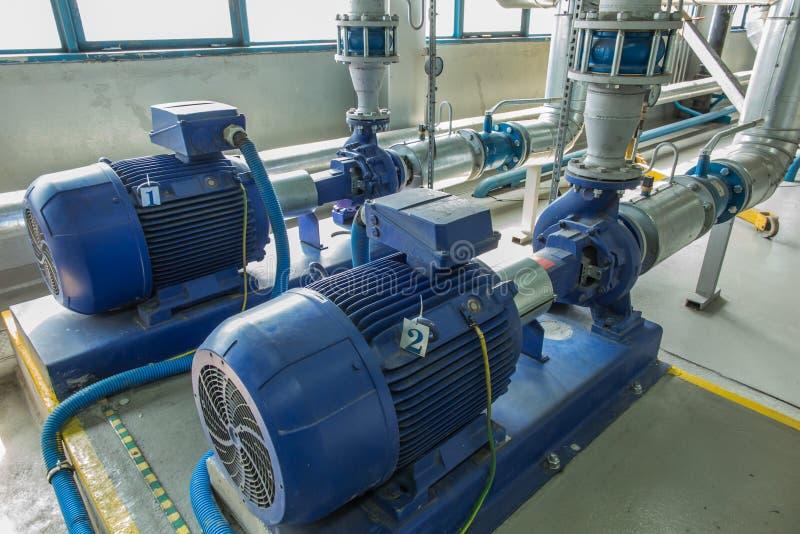 有大马达的几个水泵 图库摄影