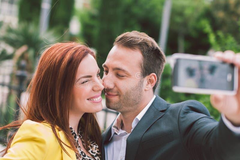 有夫妇的乐趣 图库摄影