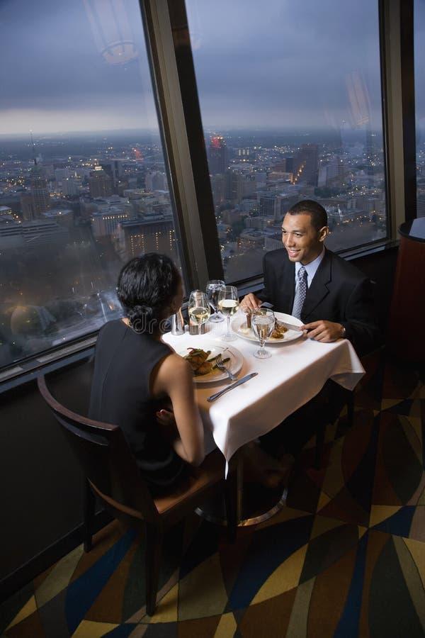 有夫妇的正餐 图库摄影