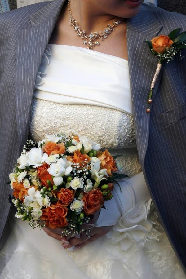 有夹克的新娘 库存照片