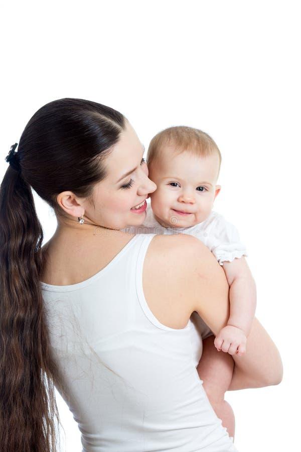 有女婴的母亲   库存照片