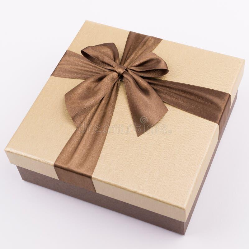 有好的丝带的礼物盒 免版税库存照片