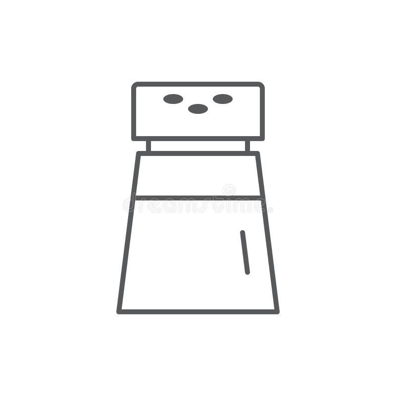 有孔的玻璃香料瓶子-盐或胡椒振动器编辑可能的线象 皇族释放例证