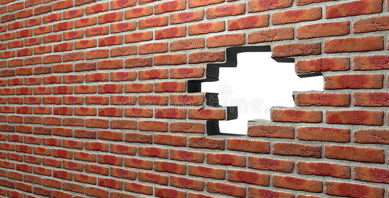 有孔的面砖墙壁 免版税库存照片