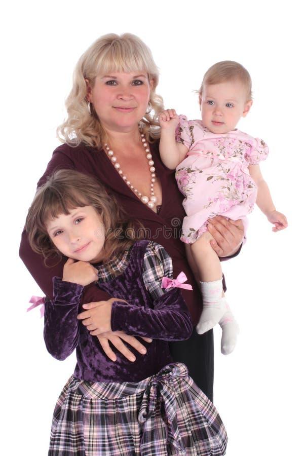 有孙女的愉快的祖母 免版税库存照片