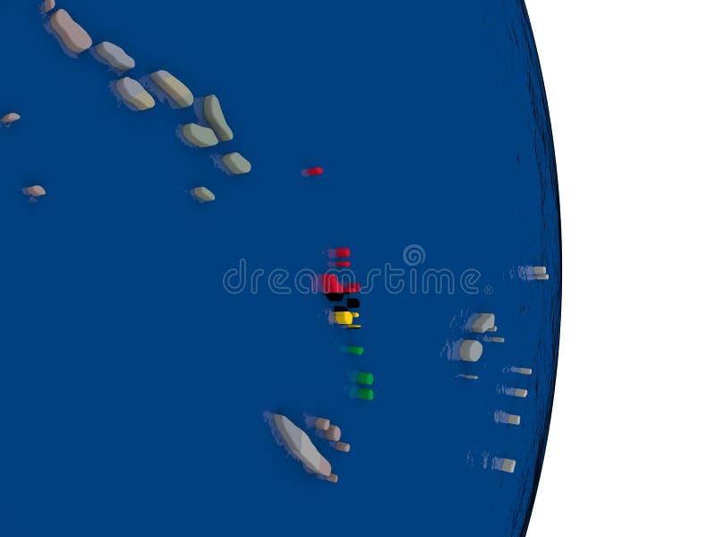 有它的旗子的瓦努阿图 库存例证