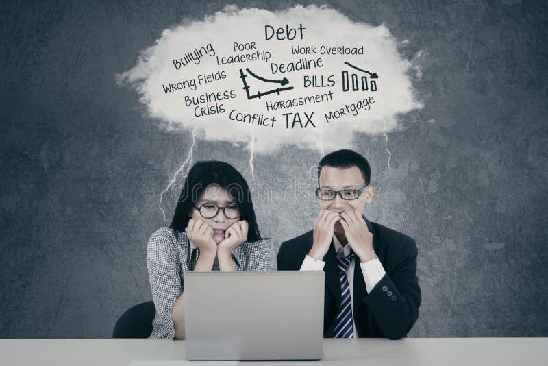 有害怕的商人问题 免版税库存图片