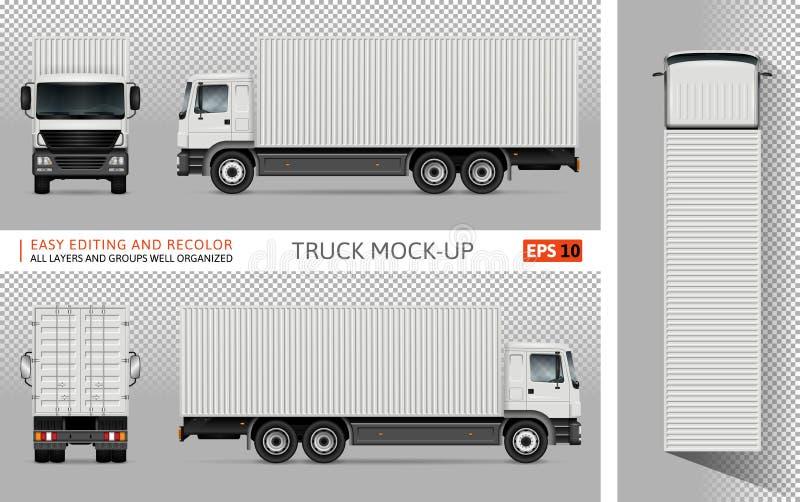 有容器传染媒介大模型的卡车 向量例证