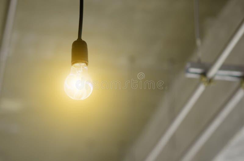 有导线的灯 库存照片