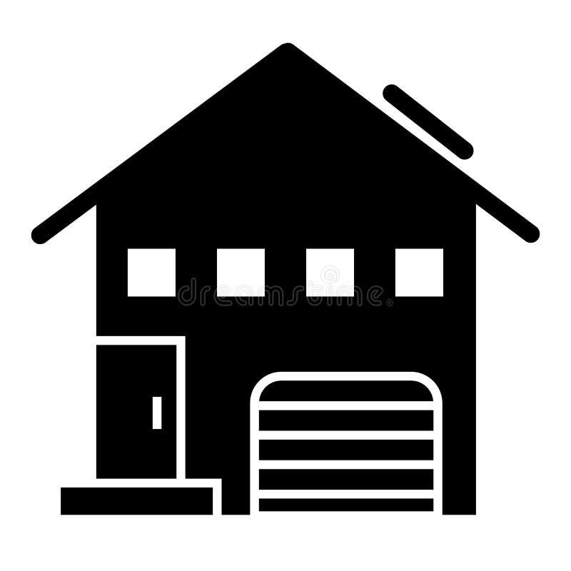 有小窗口坚实象的议院 与三角形屋顶在白色隔绝的传染媒介例证的村庄 家庭纵的沟纹样式 皇族释放例证