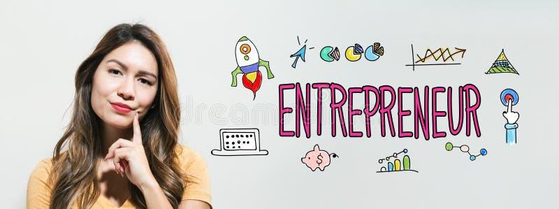 有少妇的企业家 图库摄影