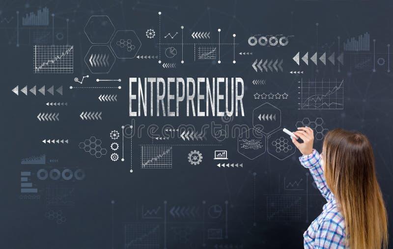 有少妇的企业家 免版税库存照片