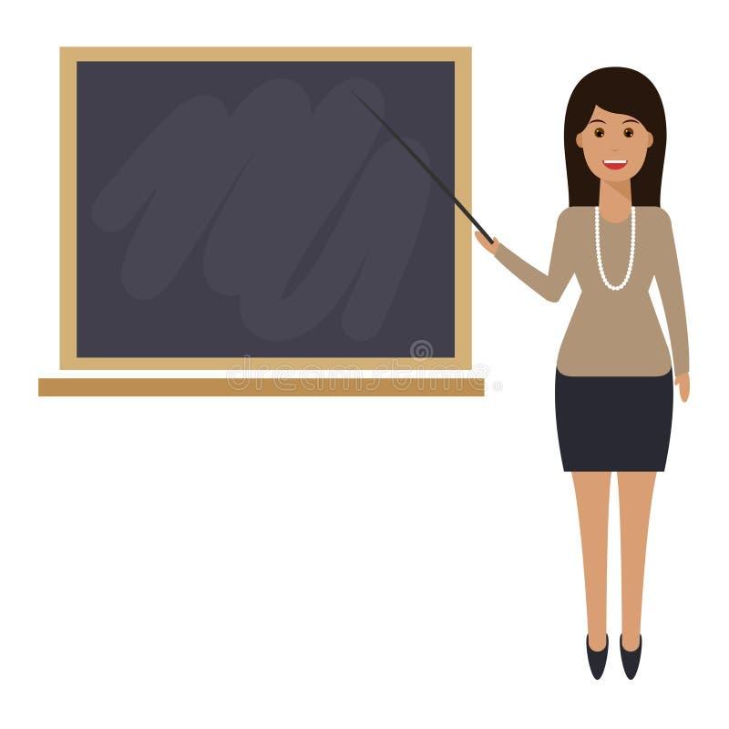 有尖的老师,显示在1上 库存例证