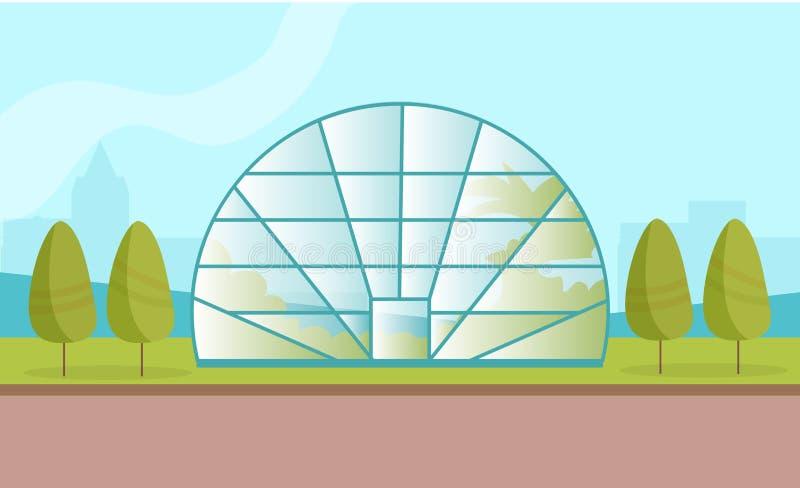 有工厂的温室 库存例证