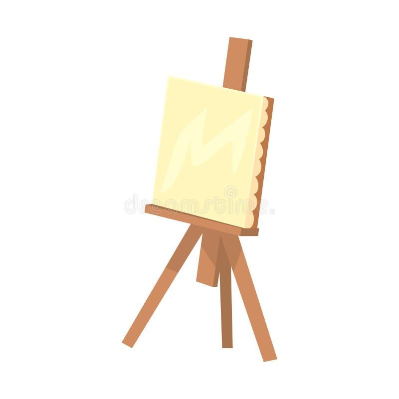有帆布的木画架 艺术性的设备五颜六色的动画片传染媒介例证 皇族释放例证