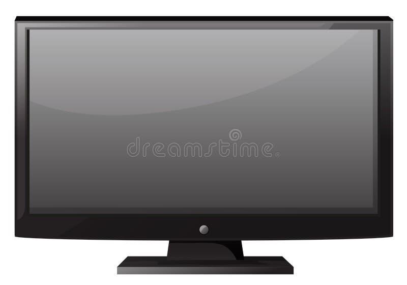 有平面屏幕的电视 库存例证
