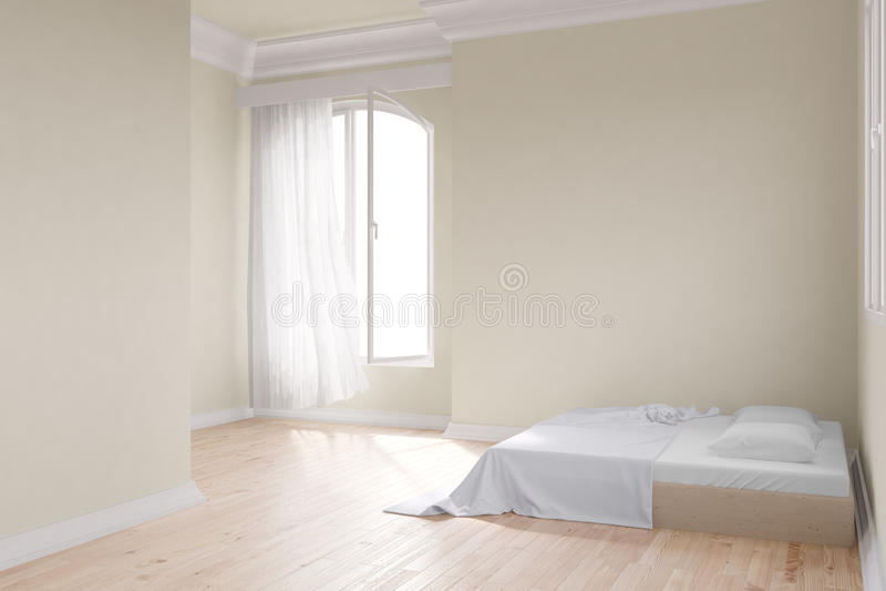 Download 有床的黄色室 库存例证. 插画 包括有 简单派, 白天, 内部, 背包, 楼层, 最低纲领派, 居住, 窗帘 - 30334056