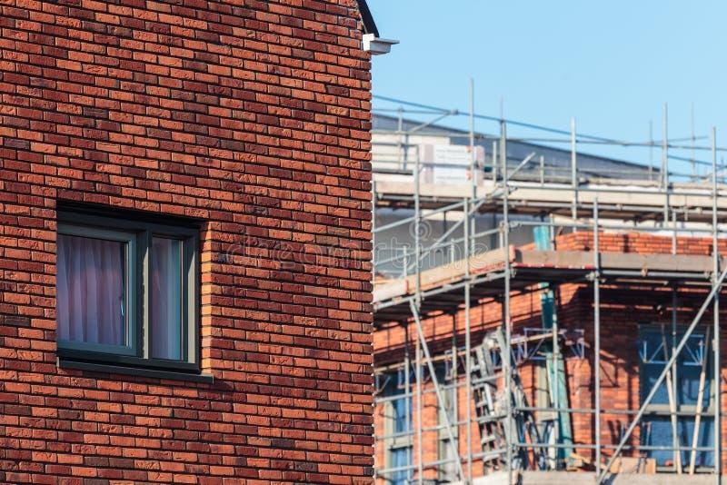 有建造场所的新的系列房子 库存图片