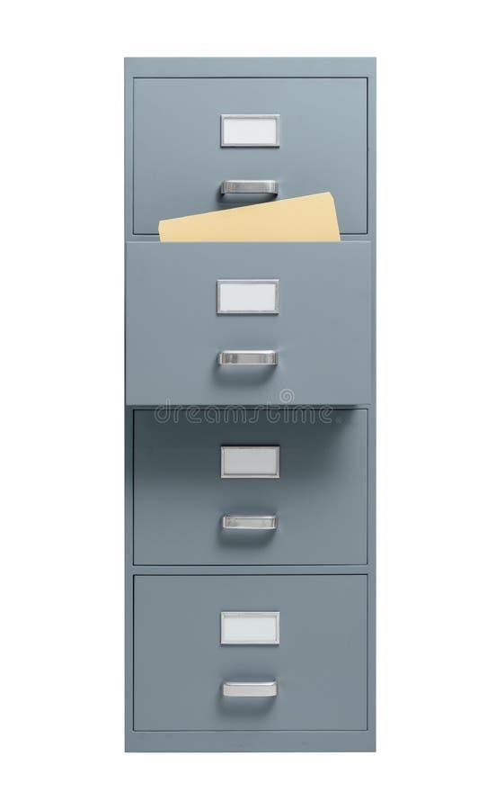 有开放抽屉的档案橱柜 库存例证