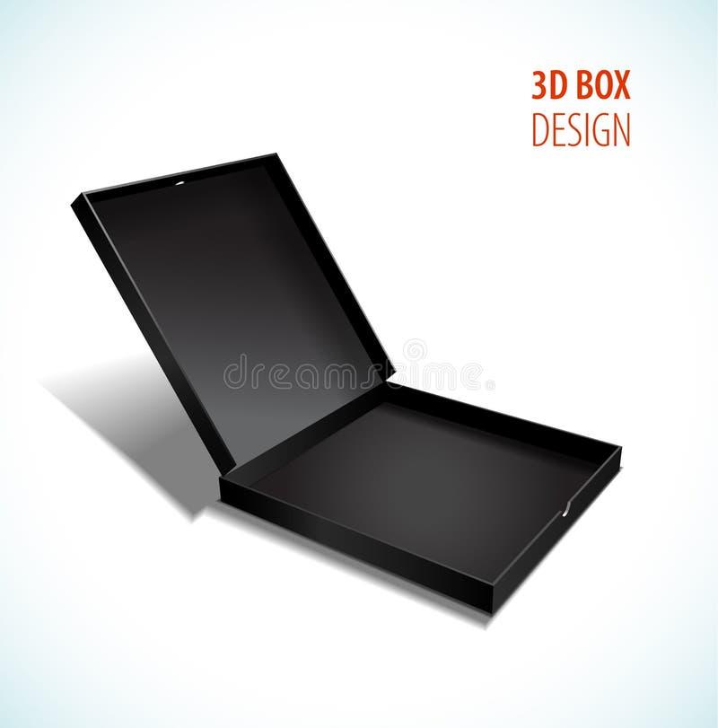 有开放盒盖的传染媒介稀薄的箱子 也corel凹道例证向量 皇族释放例证