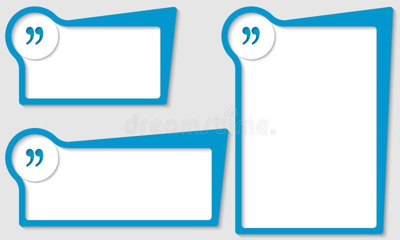 有引号的箱子 免版税库存照片