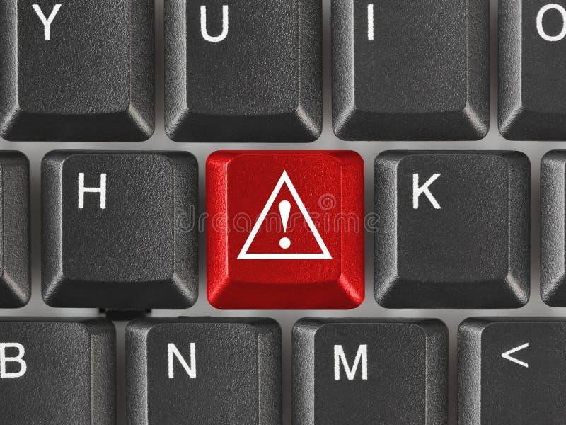 有引起注意键的键盘 图库摄影