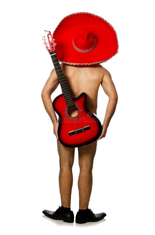 Download 有弹在白色的阔边帽的裸体人吉他 库存照片. 图片 包括有 阿根廷, 性能, 讲西班牙语的美国人, 兴奋, 吟呦诗人 - 72364180