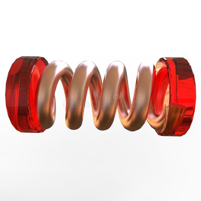 有弹性春天 不同的颜色金属螺旋,有弹性 皇族释放例证