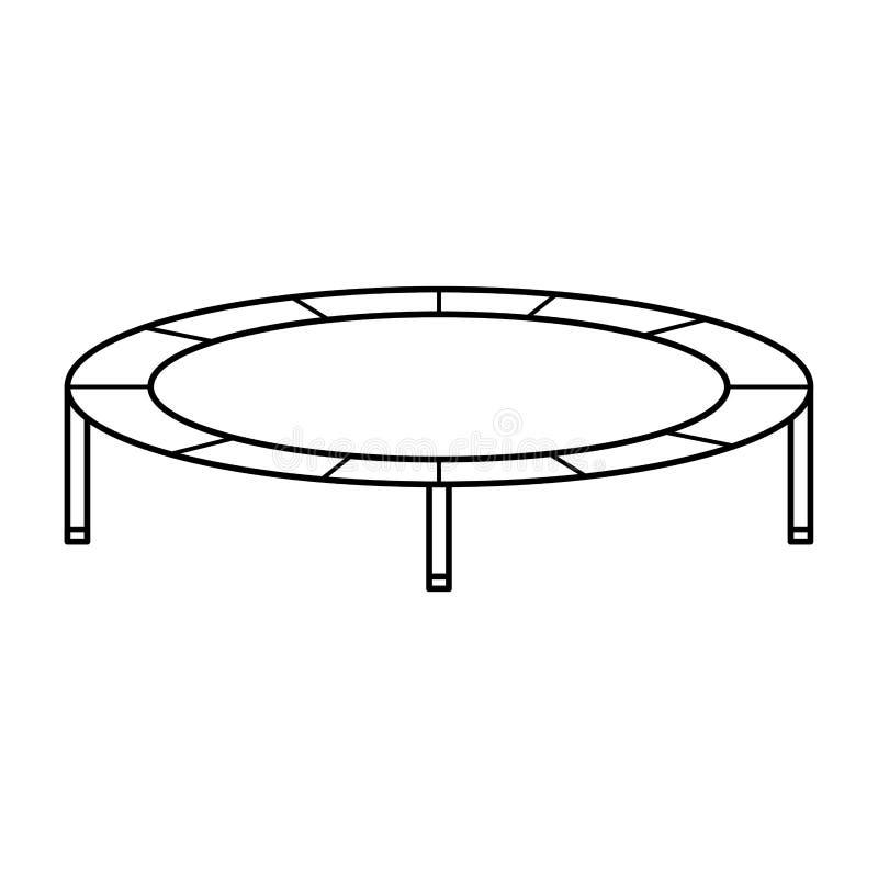 有弹性绷床被隔绝的象 库存例证
