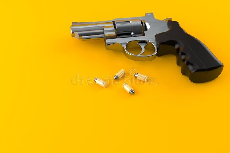 有弹药的枪 库存例证